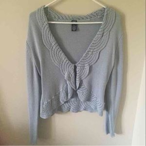 W Sweater with Hook Closure